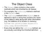 the object class1