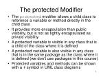 the protected modifier1