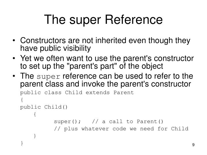 The super Reference