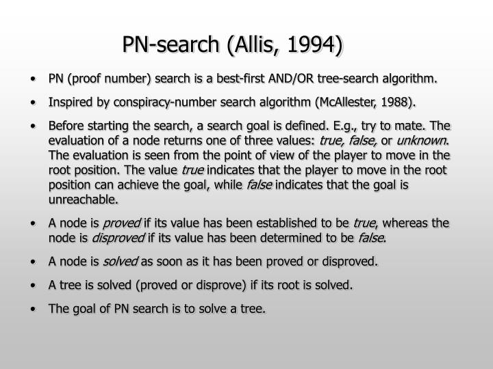 PN-search (Allis, 1994)