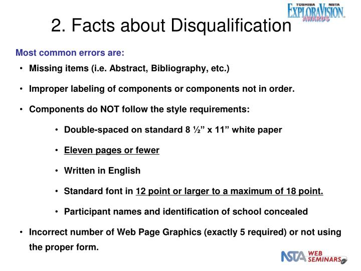 2. Facts about Disqualification