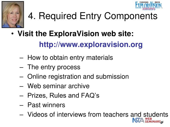 4. Required Entry Components