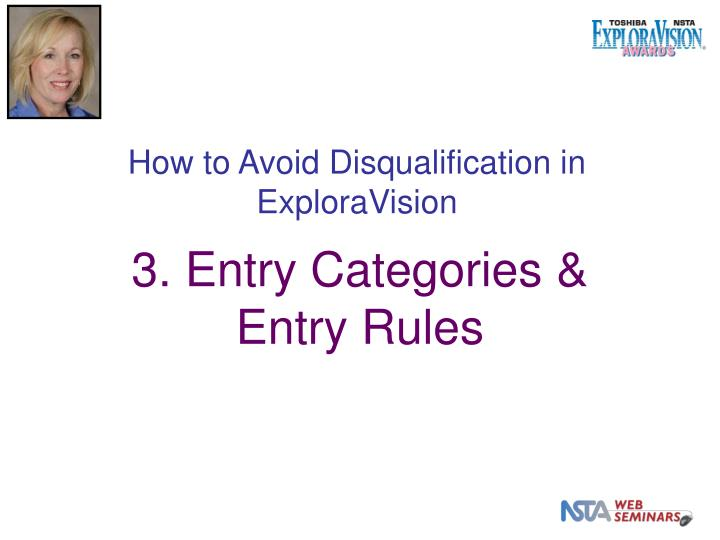 How to Avoid Disqualification in ExploraVision