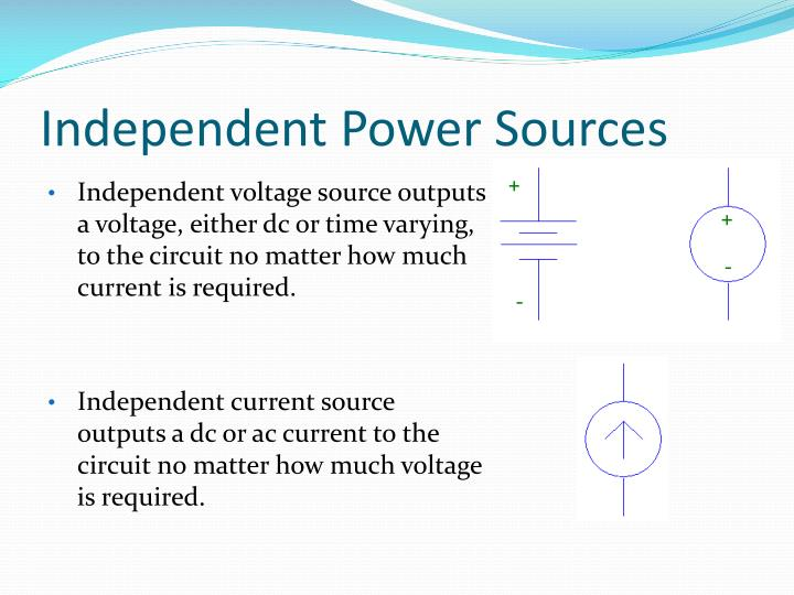 Independent Power Sources
