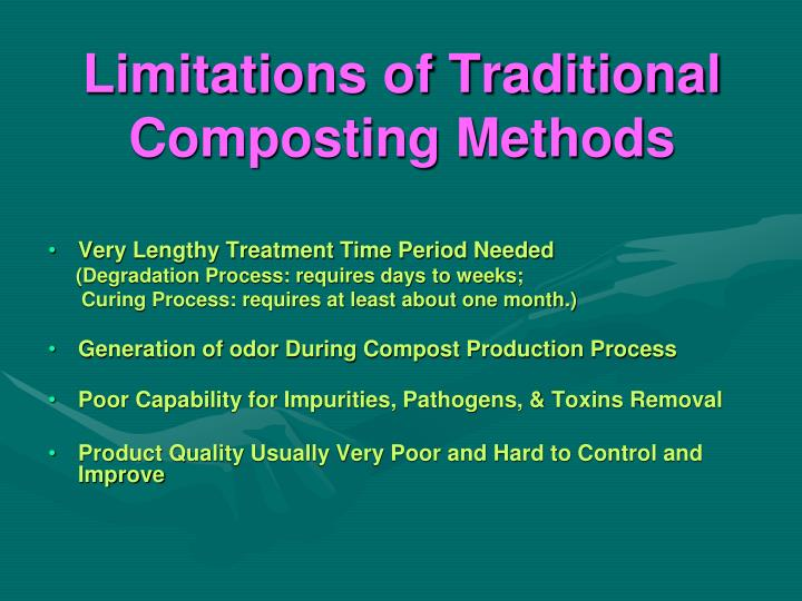 Limitations of Traditional Composting Methods