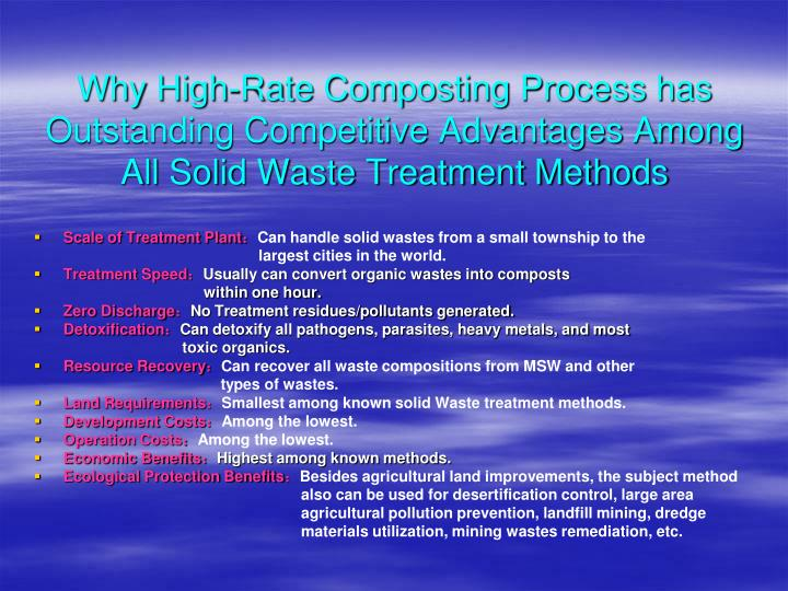 Why High-Rate Composting Process has Outstanding Competitive Advantages Among All Solid Waste Treatment Methods