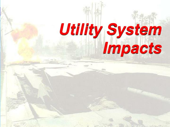 Utility System Impacts