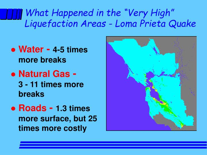 "What Happened in the ""Very High"" Liquefaction Areas - Loma Prieta Quake"
