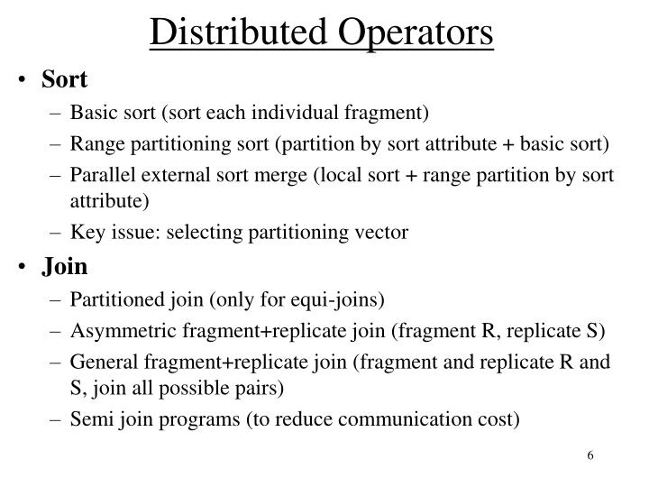 Distributed Operators