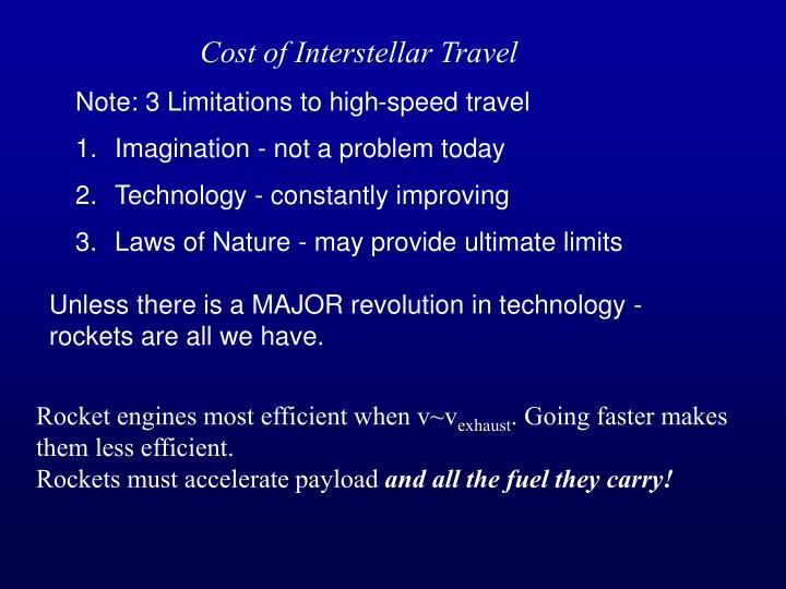 Cost of Interstellar Travel