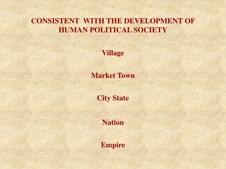 CONSISTENT  WITH THE DEVELOPMENT OF