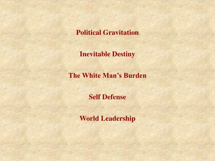 Political Gravitation