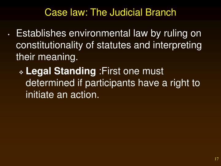 Case law: The Judicial Branch