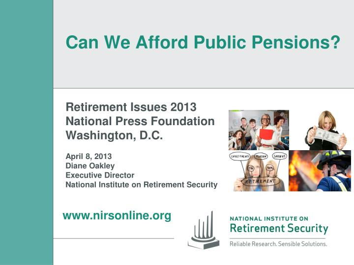 Can we afford public pensions