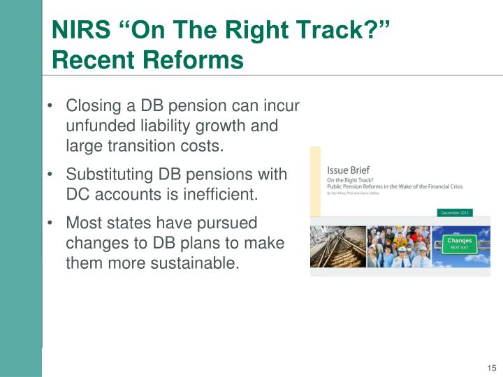 "NIRS ""On The Right Track?"""