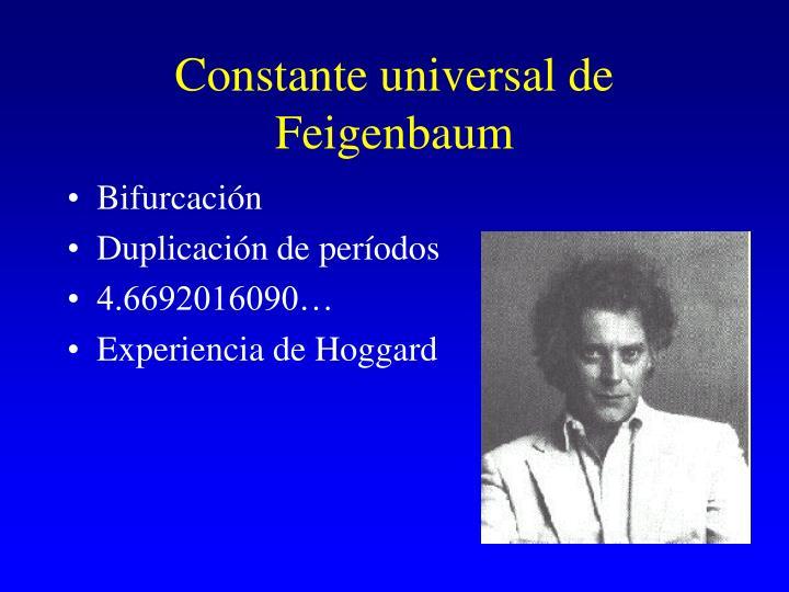 Constante universal de Feigenbaum