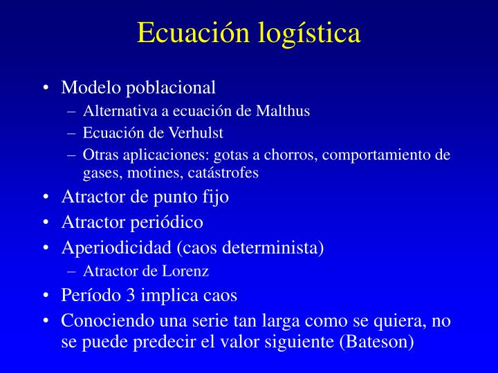 Ecuación logística