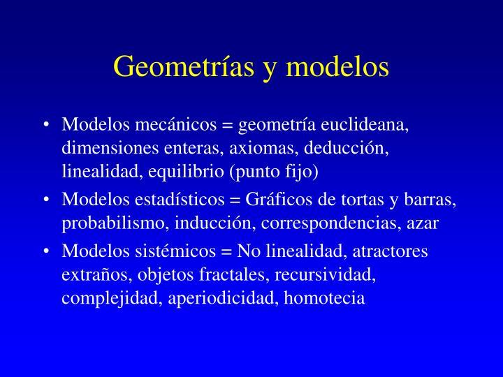 Geometrías y modelos