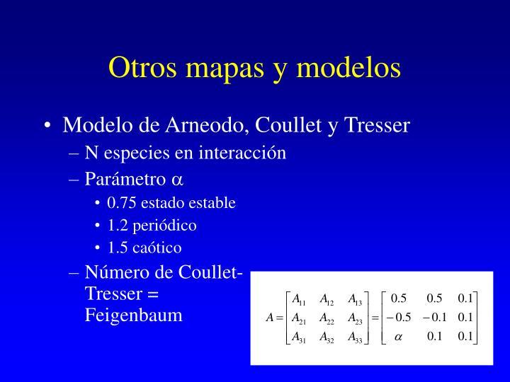 Otros mapas y modelos