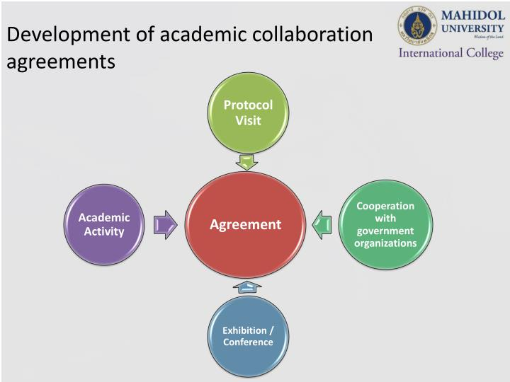 Development of academic collaboration agreements