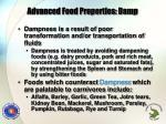 advanced food properties damp