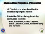 advanced food properties qi circulation