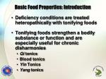 basic food properties introduction