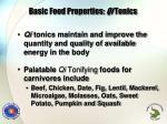 basic food properties qi tonics