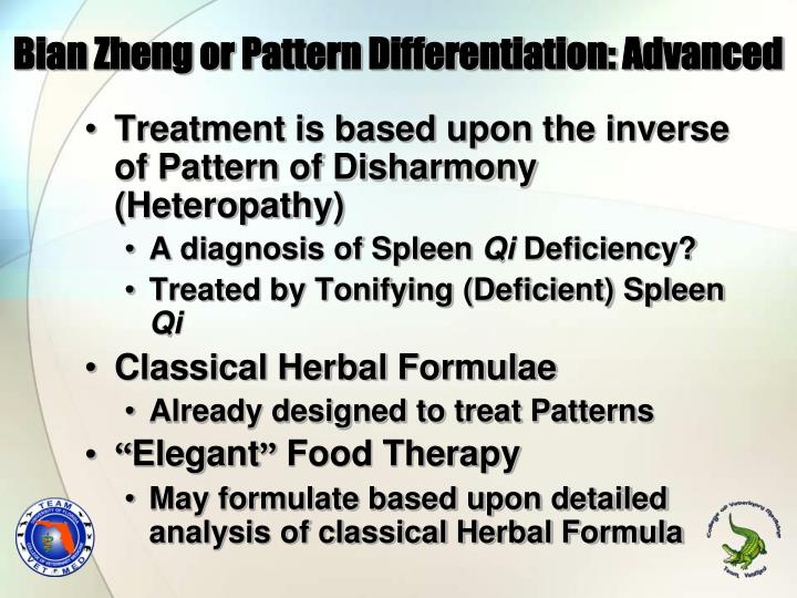 Bian Zheng or Pattern Differentiation: Advanced