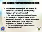 bian zheng or pattern differentiation basic