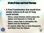 si jun zi tang and food therapy
