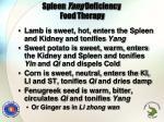 spleen yang deficiency food therapy