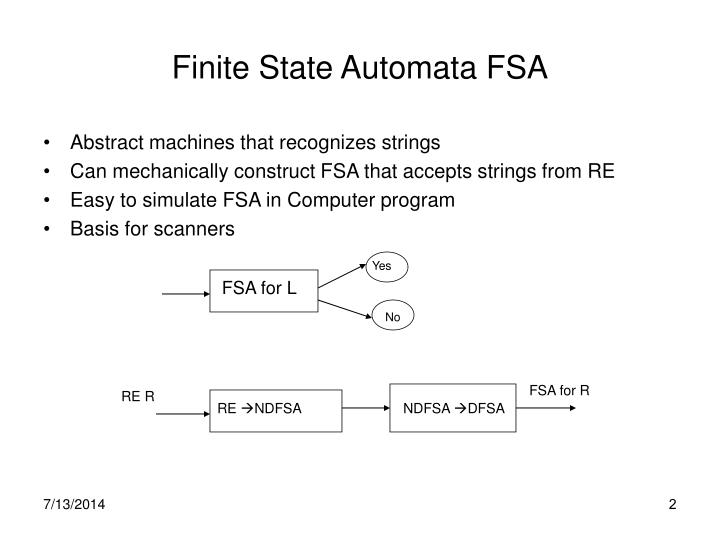 Finite State Automata FSA