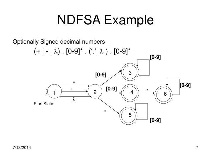 NDFSA Example
