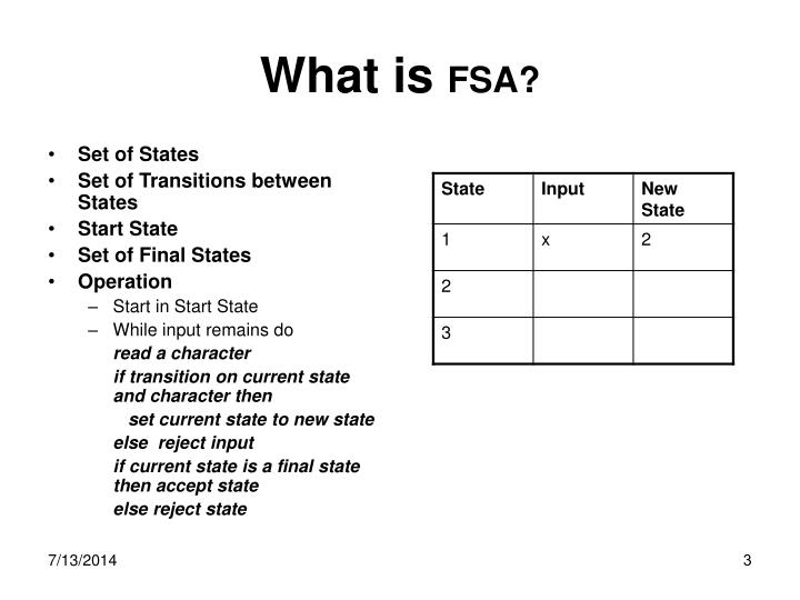 What is fsa
