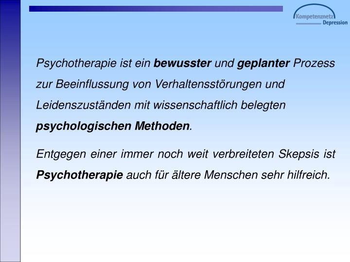 Psychotherapie ist ein