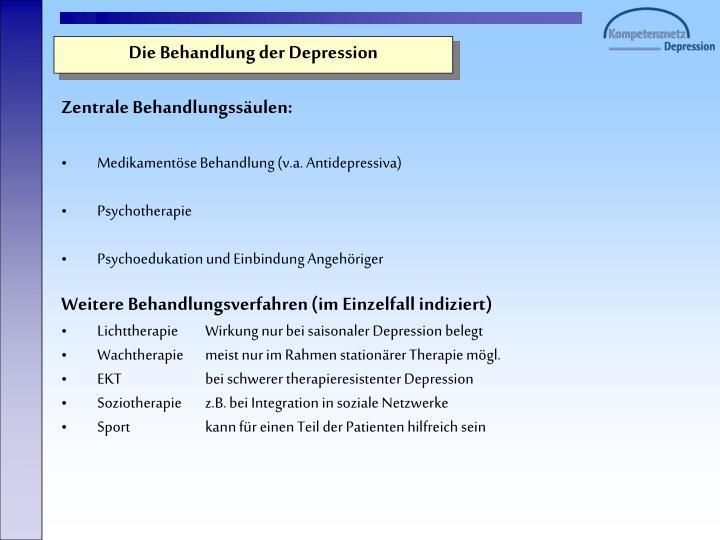 Die Behandlung der Depression