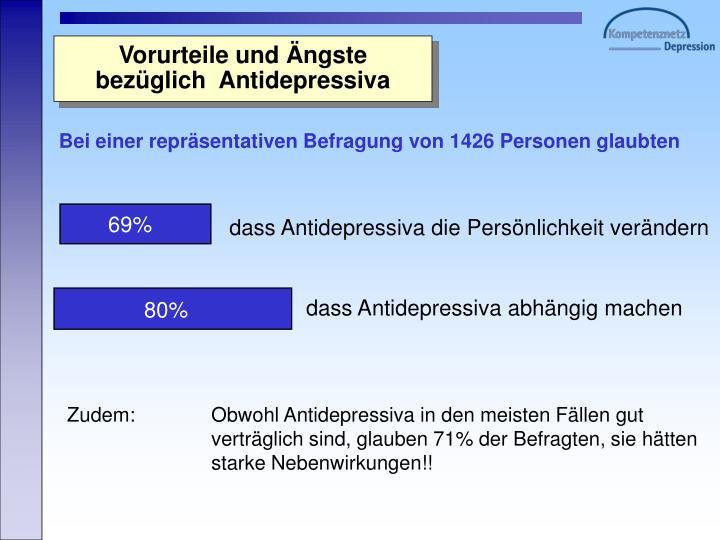dass Antidepressiva die Persönlichkeit verändern