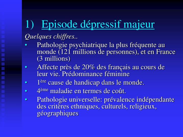 Episode dépressif majeur