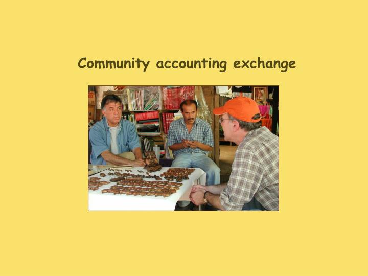 Community accounting exchange