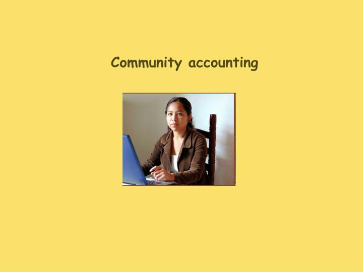 Community accounting