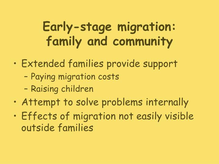 Early-stage migration: