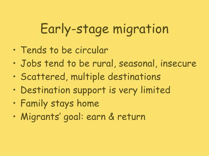 Early stage migration