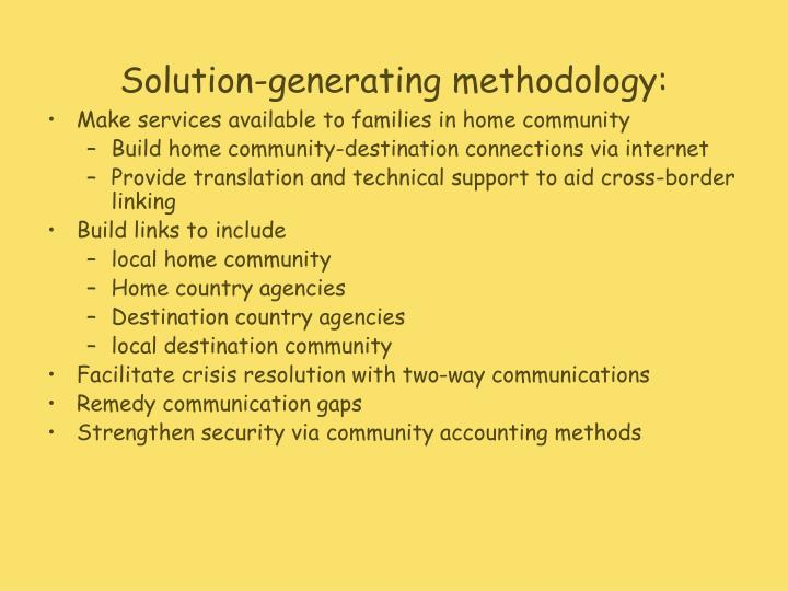 Solution-generating methodology: