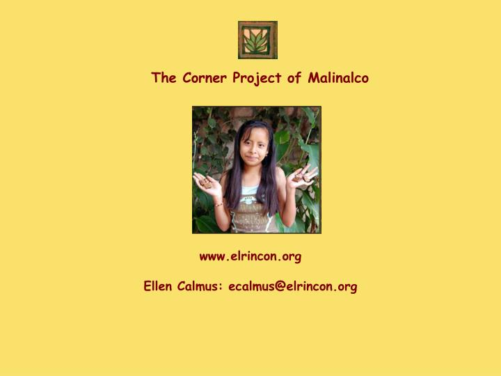 The Corner Project of Malinalco