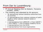 from dar to luxembourg