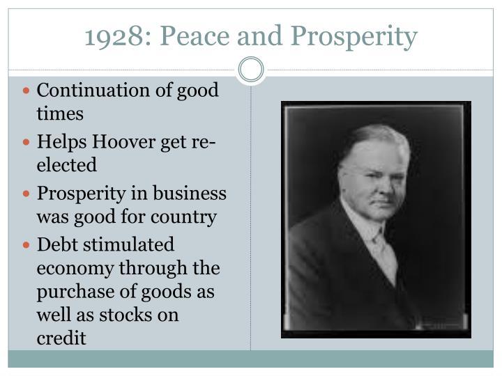 1928: Peace and Prosperity