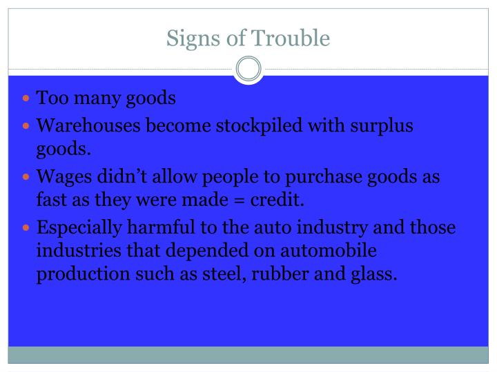 Signs of Trouble