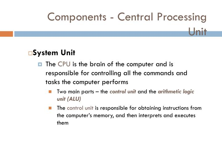 Components - Central Processing Unit