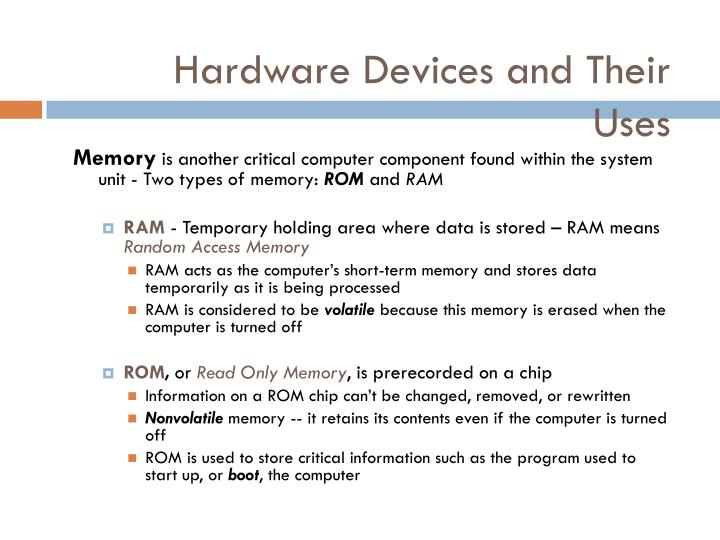 Hardware Devices and Their Uses